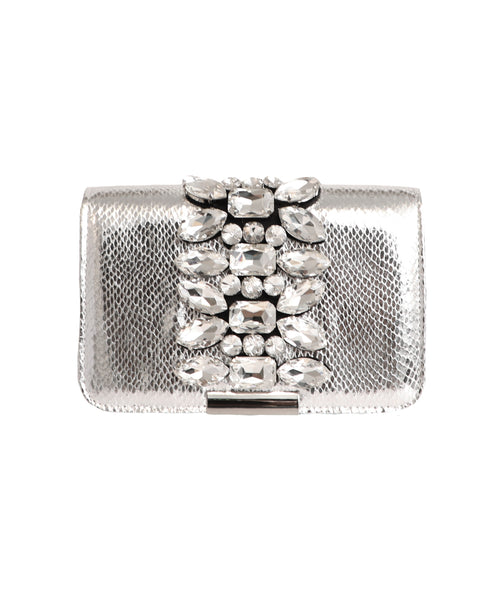 Jeweled Metallic Handbag
