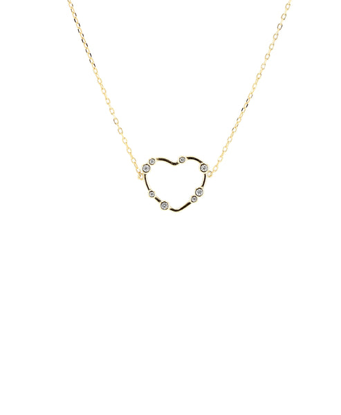 Zoom view for Heart Necklace w/ Cubic Zirconia