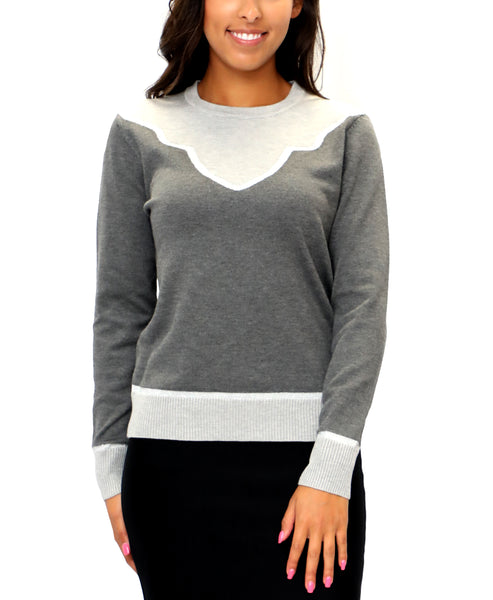 Zoom view for Colorblocked Sweater w/ Lurex