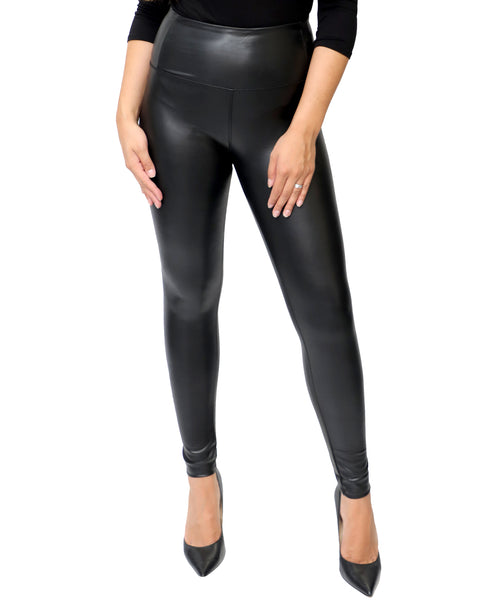 Zoom view for Vegan Leather High Waist Legging