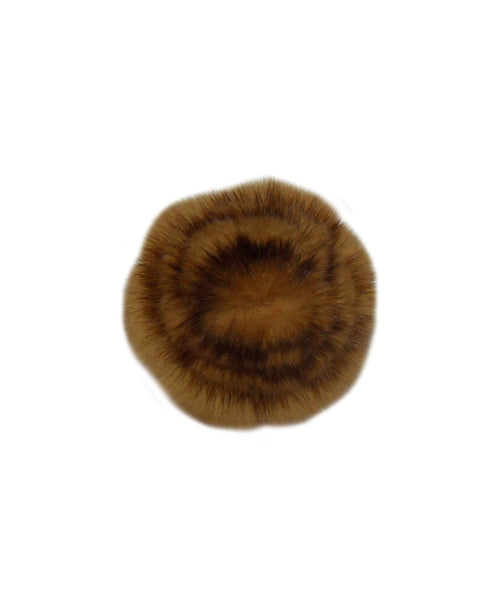 Mink Fur Flower Brooch - Fox's