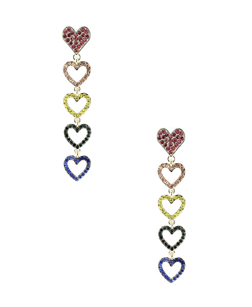 Zoom view for Hearts Drop Earrings