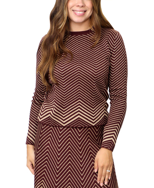 Zoom view for Zig Zag Print Sweater A