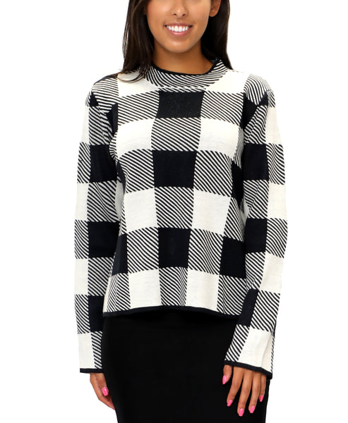 Zoom view for Check Sweater - Fox's