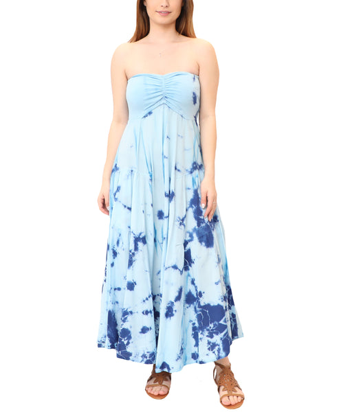 Tie Dye Strapless Dress