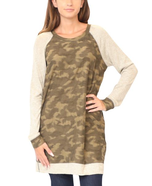 Camouflage Print Top - Fox's