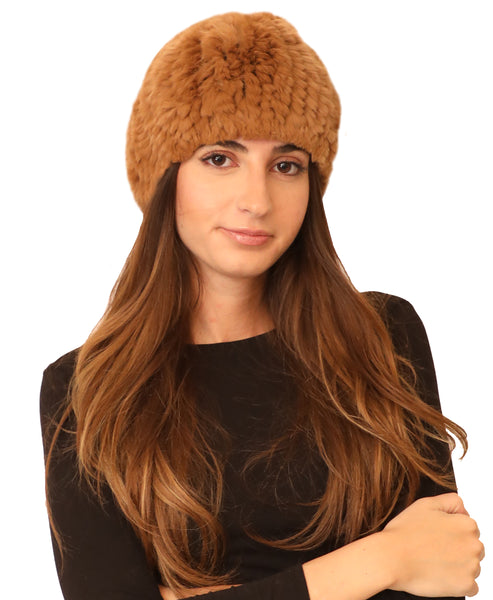 Knitted Fur Beanie Hat - Fox's
