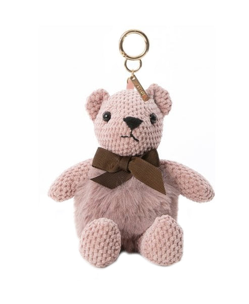 Chenille & Fur Bear Keychain/ Bag Charm - Fox's