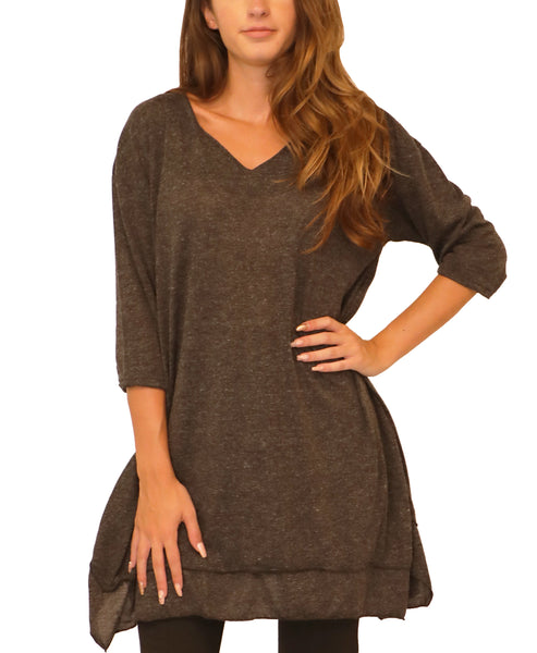 V-Neck Tunic Top - Fox's