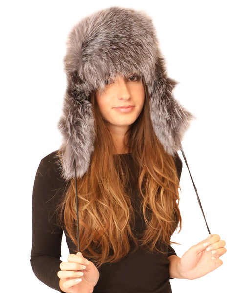 Fox Fur Leather Trapper Hat - Fox's