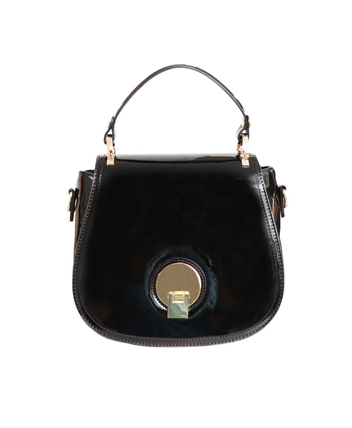 Patent Top Handle Handbag