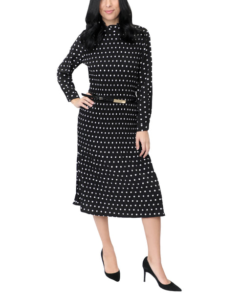 Zoom view for Polka Dot Plisse Dress