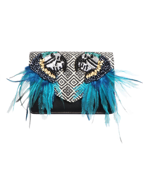 """Parrot"" Embellished Handbag - Fox's"