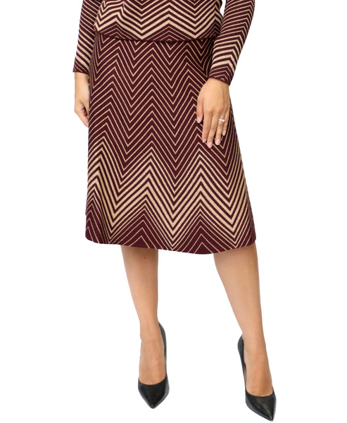 Zoom view for Zig Zag Print Skirt A