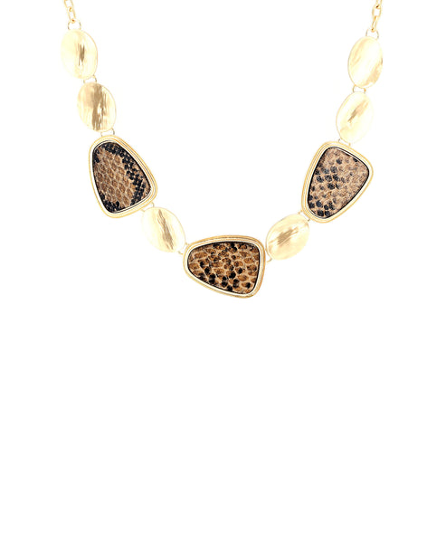 Zoom view for Snake Printed Collar Necklace A