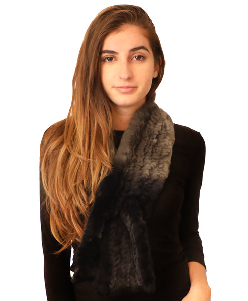 Fur Pull Thru Scarf - Fox's