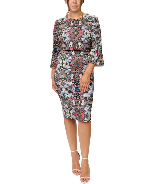 Zoom view for Floral Print Scuba Cocktail Dress
