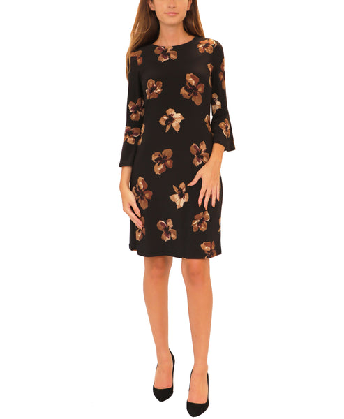 Floral Dress w/ Bell Sleeves - Fox's