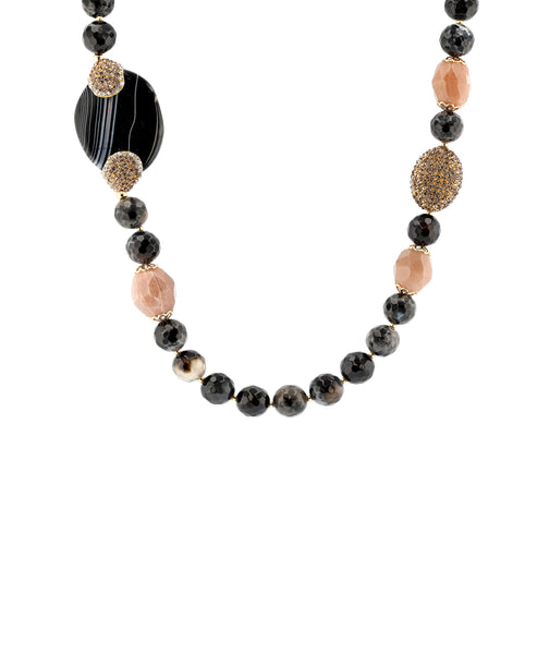 Zoom view for Agate Beaded Necklace