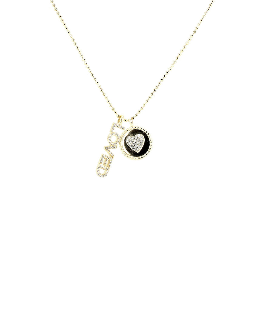 """LOVED"" Necklace w/ Cubic Zirconia"