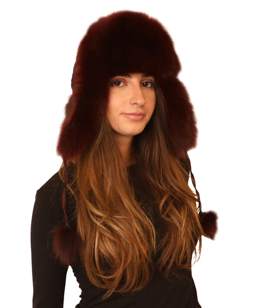 Fox Fur Nylon Trapper Hat - Fox's