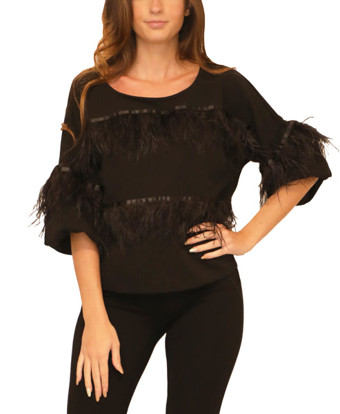 Blouse w/ Feathers - Fox's