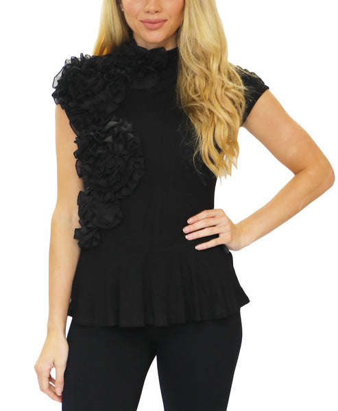 Zoom view for Peplum Tee w/ Ruffle Accents