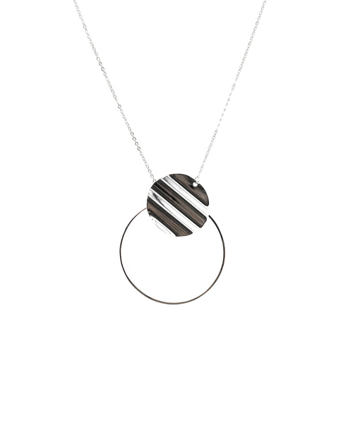 Zoom view for Sterling Silver Double Disc Necklace