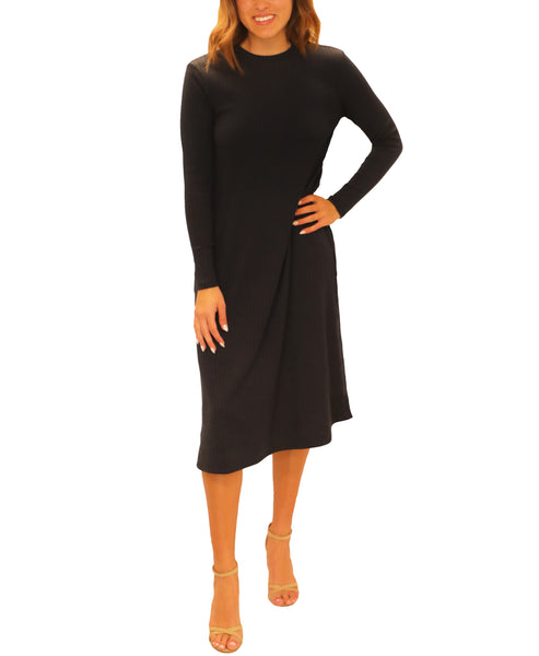 Zoom view for A-Line Knit Ribbed Dress