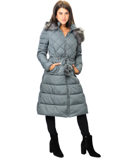 Zoom view for Puffer Coat w/ Faux Fur