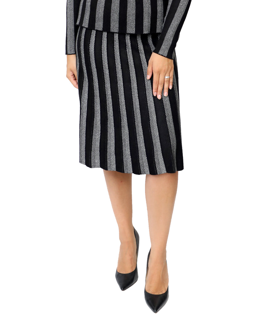 Shimmer Striped Skirt