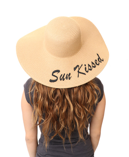 """Sun Kissed"" Floppy Straw Hat"