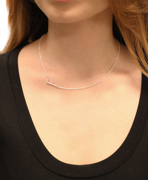 Sterling Silver Initial Necklace- Online Exclusive