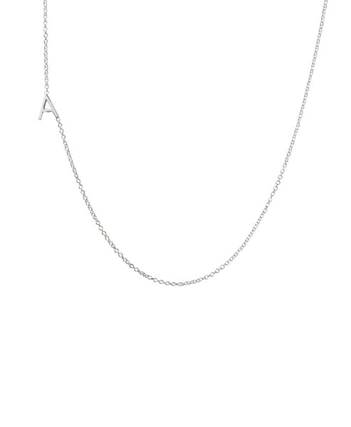 Zoom view for Sterling Silver Initial Necklace- Online Exclusive - Fox's