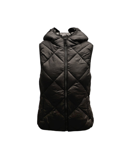 Quilted Puffer Vest w/ Hood