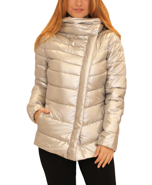 Puffer Jacket w/ w/ Removable Hood