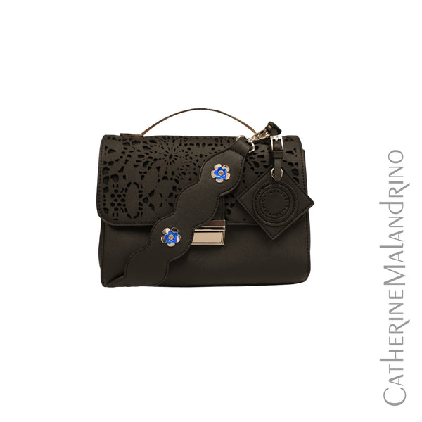 Laser Cut Handbag w/ Detachable Strap- Small
