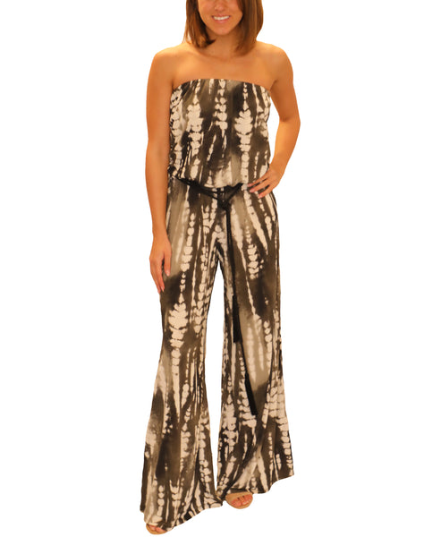 Zoom view for Tie Dye Strapless Jumpsuit