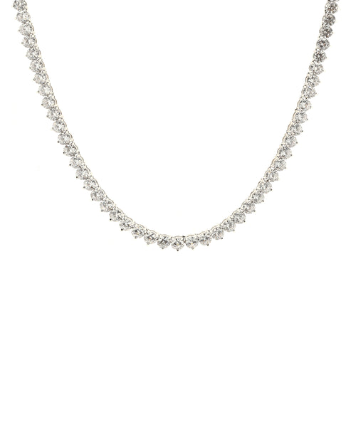 Zoom view for Cubic Zirconia Round Cut Tennis Necklace