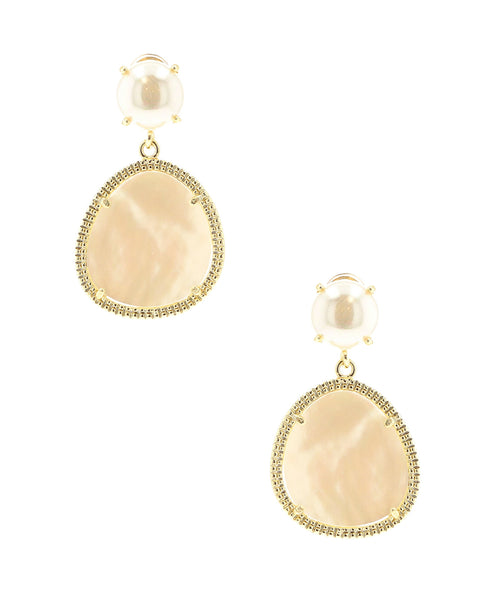 Zoom view for Earrings w/ Mother of Pearl Drop