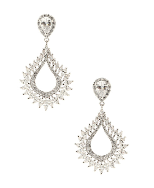 Zoom view for Cubic Zirconia Pear Drop Earrings