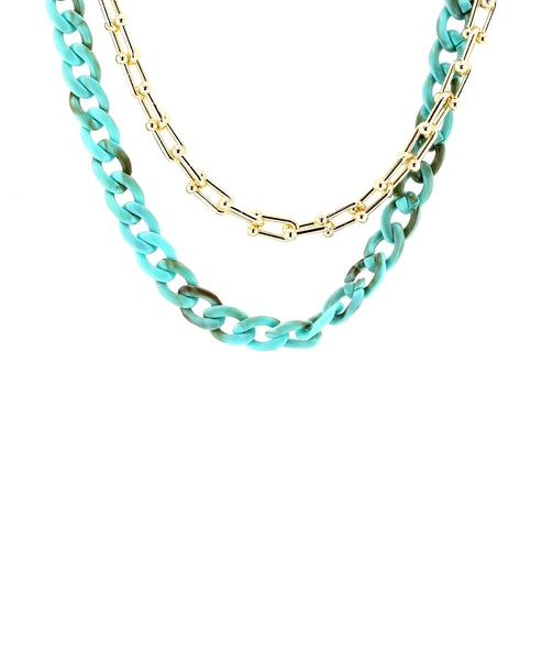 Zoom view for Mixed Chain Link Necklace