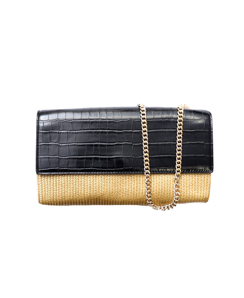 Zoom view for Envelope Straw Crossbody Clutch