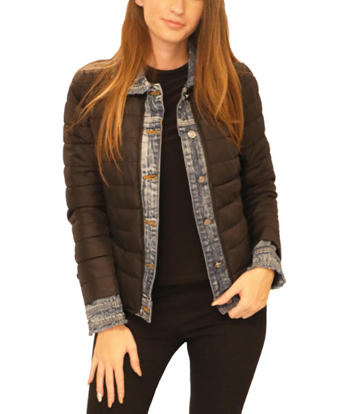 Lightweight Puffer & Denim Jacket - Fox's