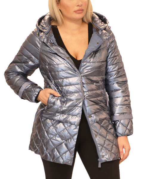 Quilted Puffer Coat w/ Removable Hood - Fox's