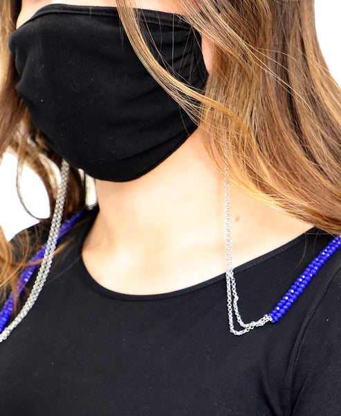 Zoom view for Double Strand Mask Holder w/ Crystals