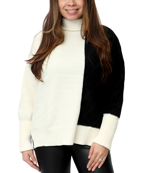 Zoom view for Colorblock Turtleneck Sweater