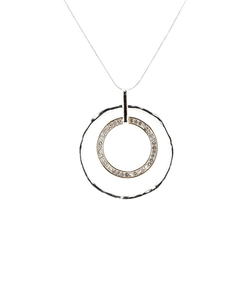 Zoom view for Long Necklace w/ Circular Pendant A