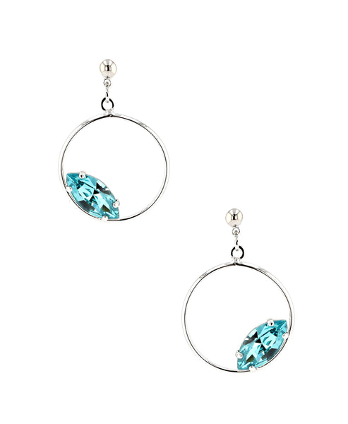 Zoom view for Swarovski Crystal Circle Earrings A