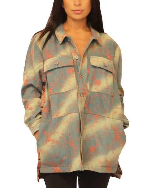 Denim Shirt Jacket w/ Tapestry Back - Fox's
